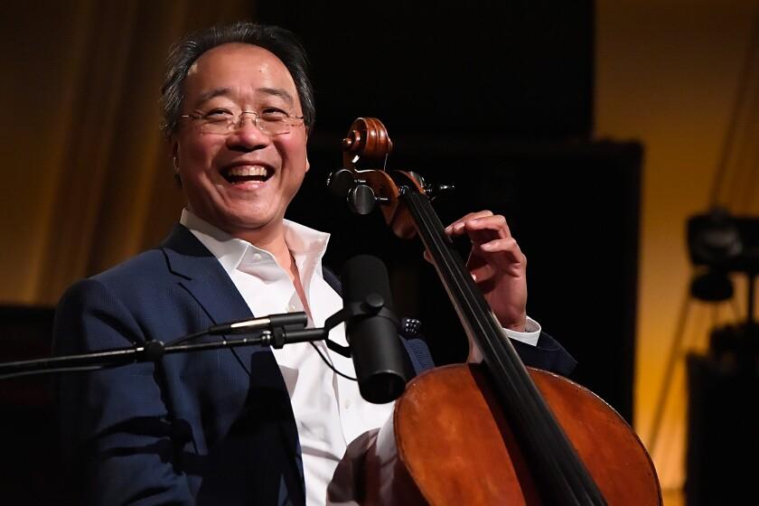 Yo-Yo Ma Performs On SiriusXM's Symphony Hall At The SiriusXM Washington D.C. Studios