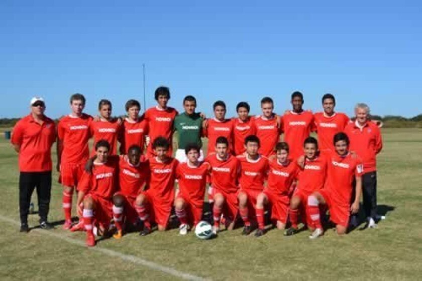 The Nomads competitive soccer club's current team. Courtesy