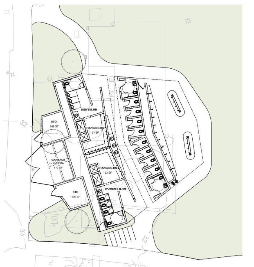 Updated schematic designs for the La Jolla Cove Pavilion.