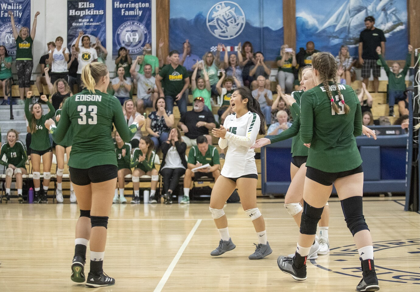 Photo Gallery: Edison vs. Newport Harbor in girls' volleyball