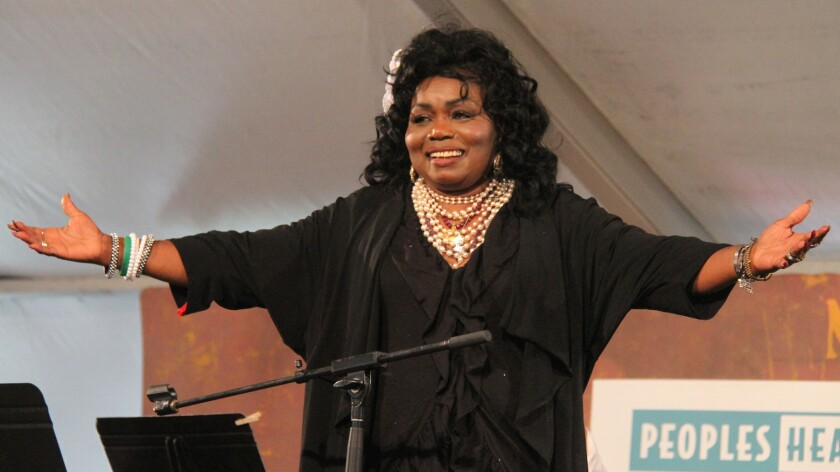 Ruby Wilson at the New Orleans Jazz and Heritage Festival in 2011.