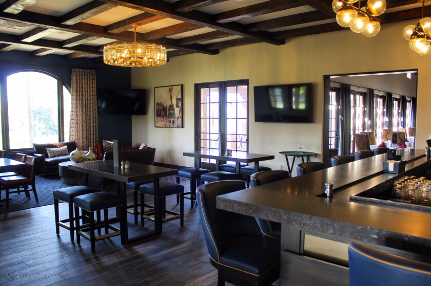 Inside the newly renovated bar at The Crosby Club.