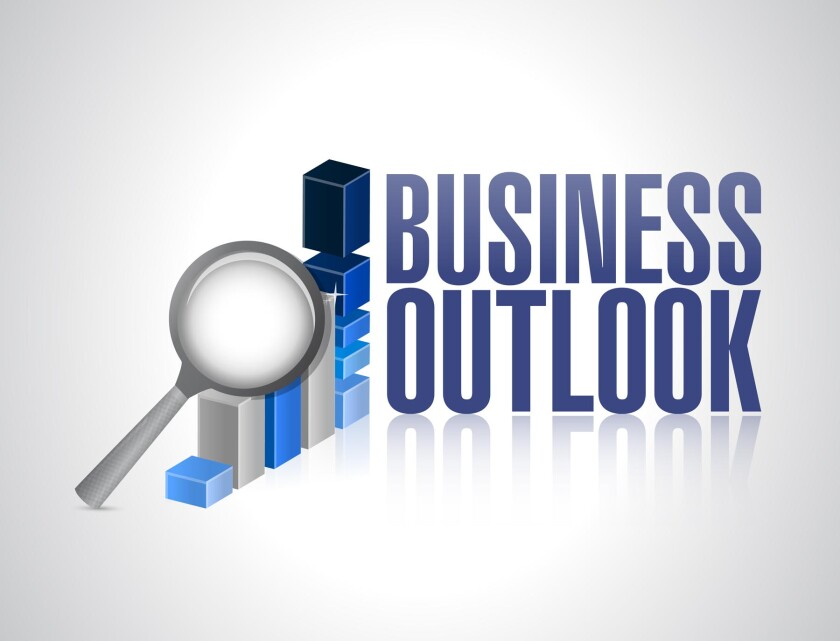 business forecast outlook clip art