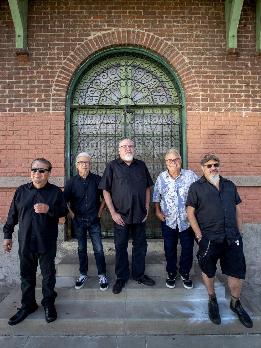 Los Lobos, from left: Cesar Rosas, Louie Pérez, David Hidalgo, Conrad Lozano and Steve Berlin.