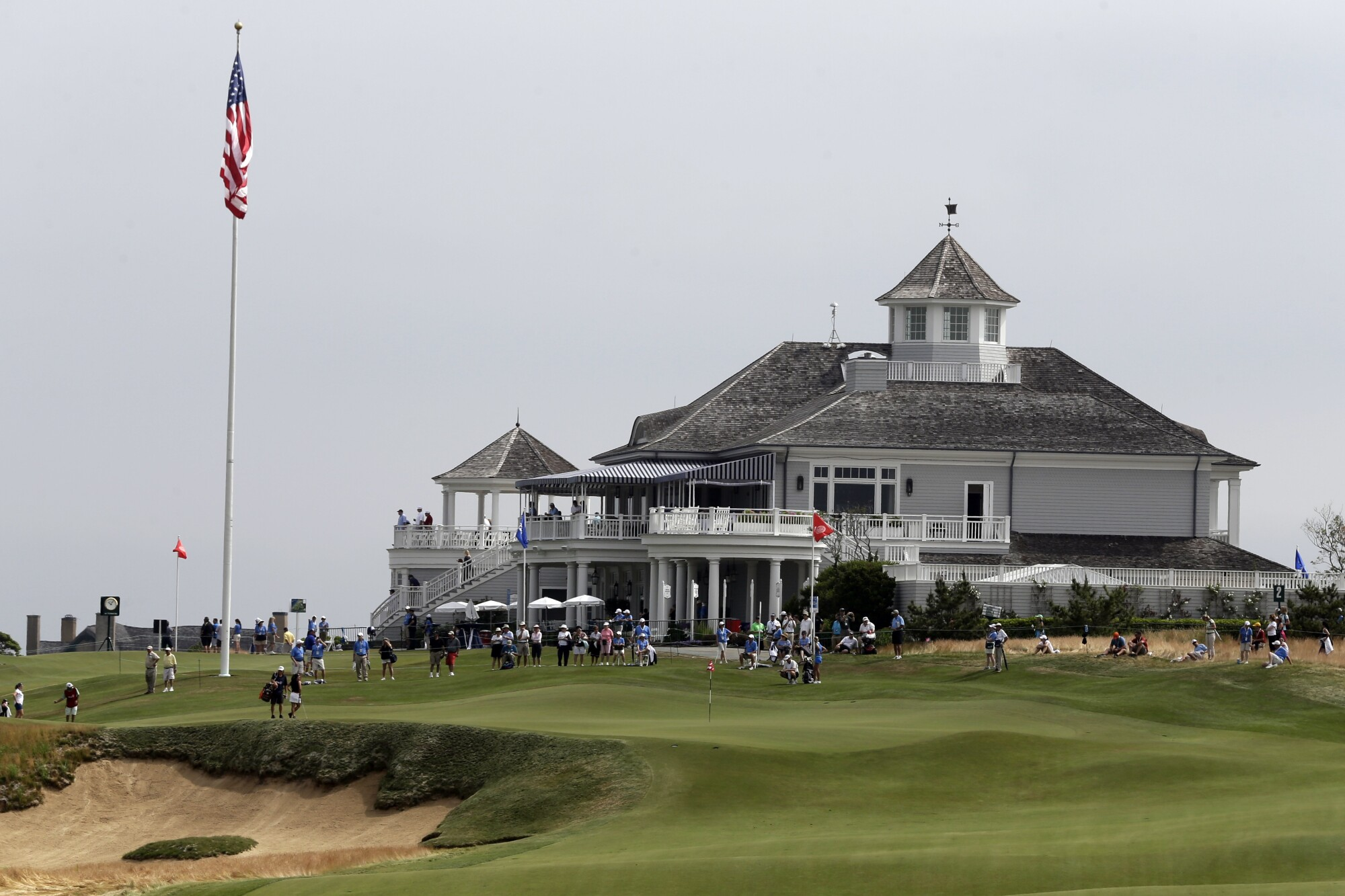 The clubhouse of the exclusive Sebonack Golf Club in Southampton, N.Y.