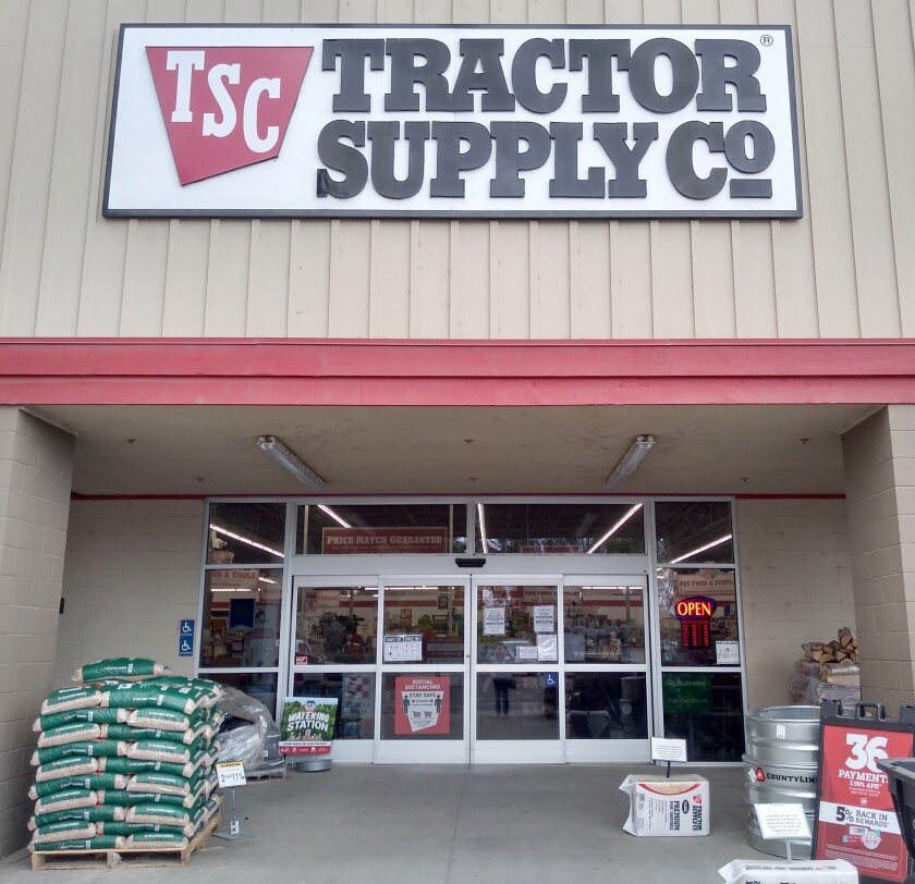 Tractor Supply Co. leases its space and has no plans to close even if the property it occupies is for sale.