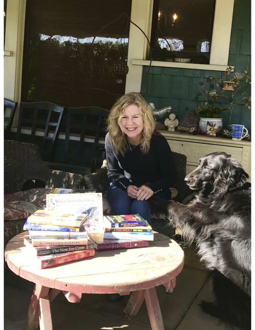 """Susan Straight organized a """"Fence Library"""" in front of her house in Riverside."""