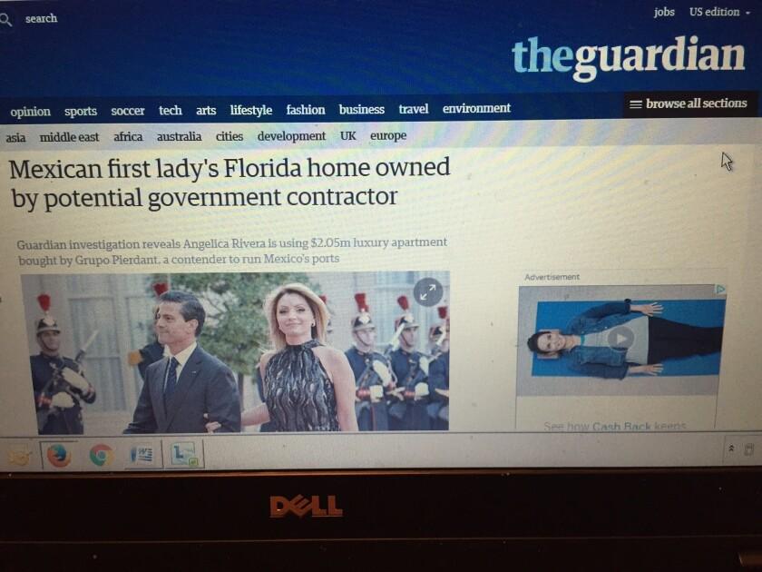 Portada digital del periódico británico.