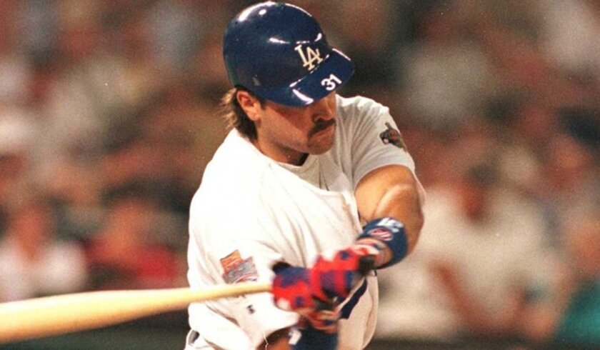 The Dodgers' Mike Piazza earned MVP of the 1996 All-Star Game with a home run and a double in the NL's victory.