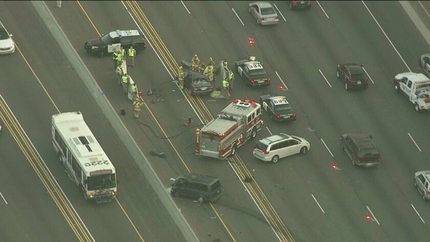 5 Freeway reopens in Irvine after chain-reaction crash that