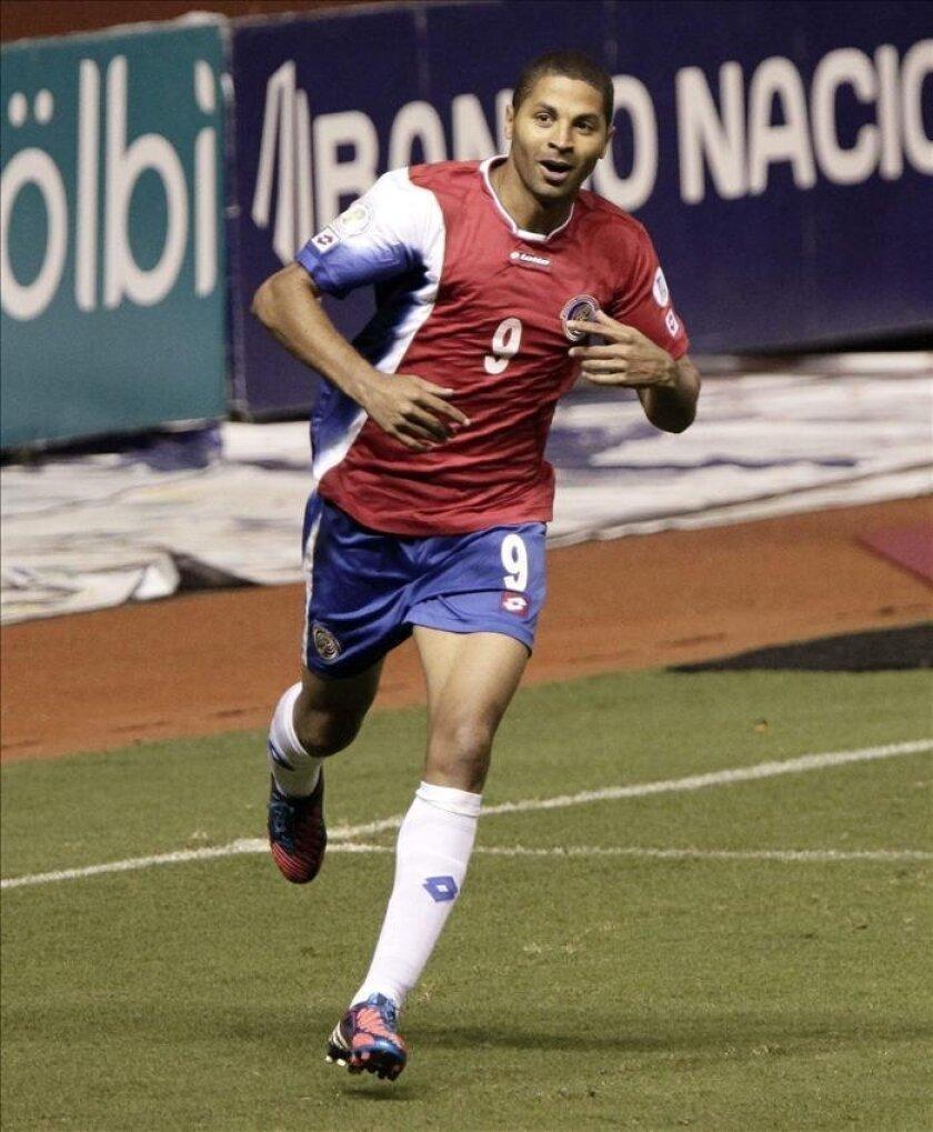 En la imagen, el goleador de la selección de Costa Rica Álvaro Saborío. EFE/Archivo