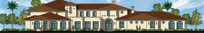 Architect's drawing of the exterior of the proposed Villa de Vida affordable housing development for