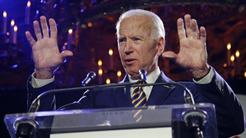 Former Vice President Joe Biden speaks at the Biden Courage Awards on March 26 in New York.
