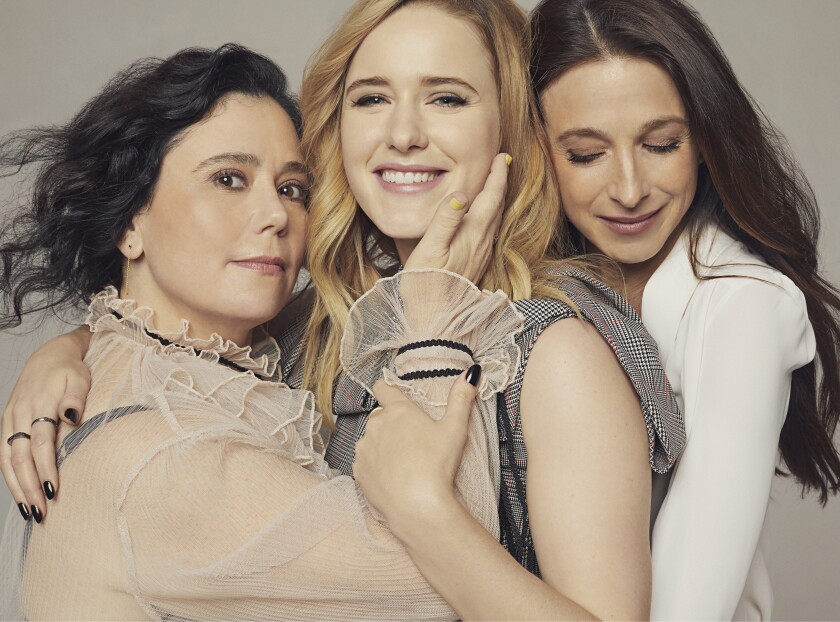 "The Emmy-nominated actresses of ""Mrs. Maisel"": Alex Borstein, Rachel Brosnahan, Marin Hinkle"