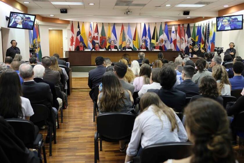 En la imagen, una audiencia de la Corte Interamericana de Derechos Humanos (CorteIDH). EFE/Archivo