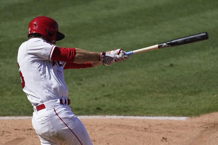 Angels' Jared Walsh hits a grand slam.