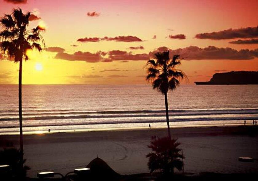 Coronado Beach in San Diego County