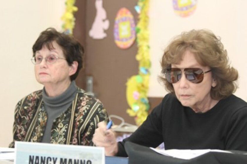 Community planning association trustees Helen Boyden and Nancy Manno were elected to serve as board secretary and treasurer, respectively, during the group's April 3 meeting.