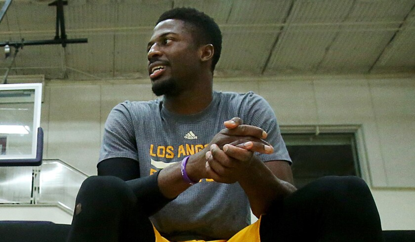 David Nwaba averaged 13.9 points, 7.0 rebounds, 1.4 steals and 1.2 blocks in 38 games for the Los Angeles D-Fenders.