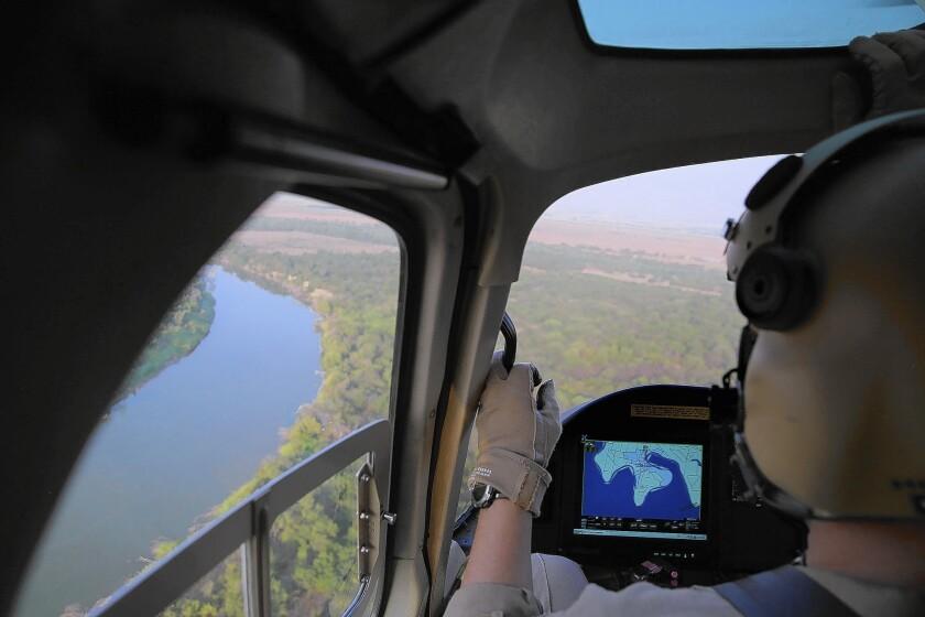 U.S. patrol over Rio Grande