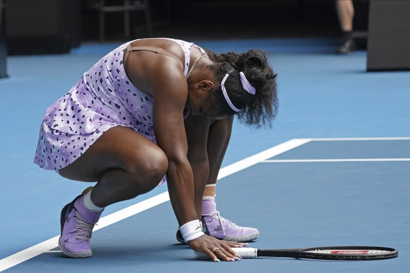 Serena Williams was knocked out of the Australian Open in the third round by Wang Qiang of China.