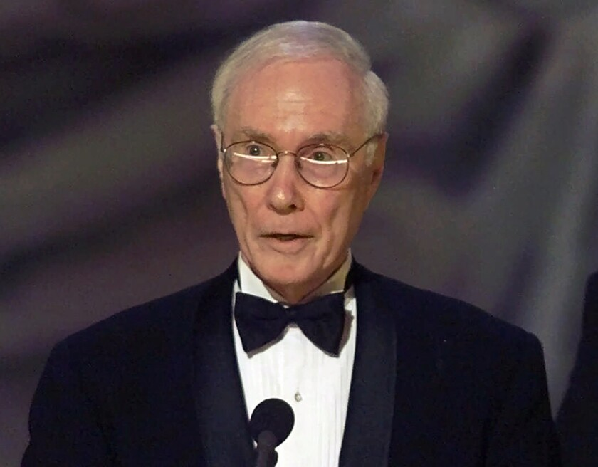 """Roger Berlind, producer of """"Kiss Me, Kate,"""" accepts the Tony award for best revival of a musical  in 2006."""