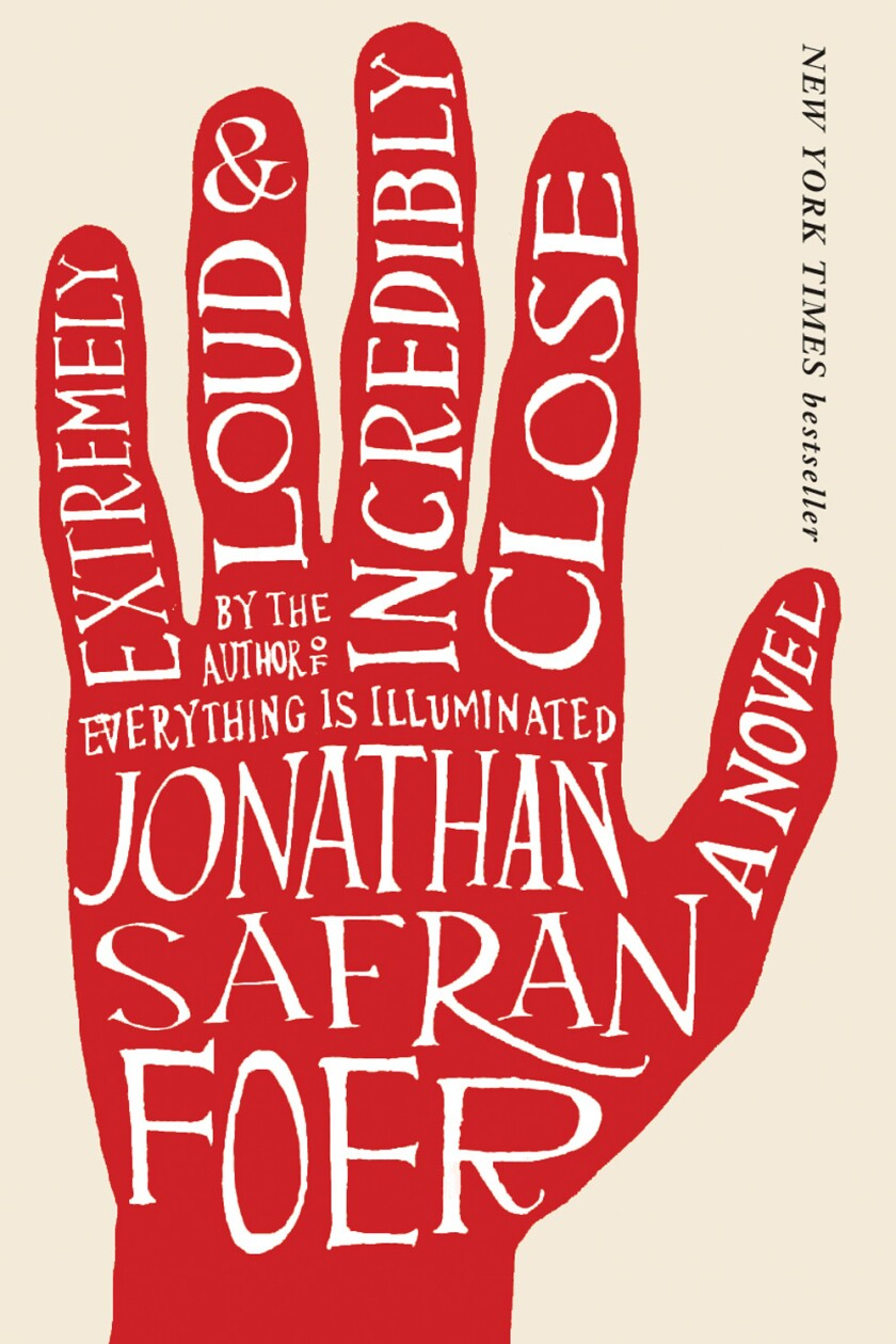 """Book jacket for """"Extremely Loud and Incredibly Close"""" by Jonathan Safran Foer"""