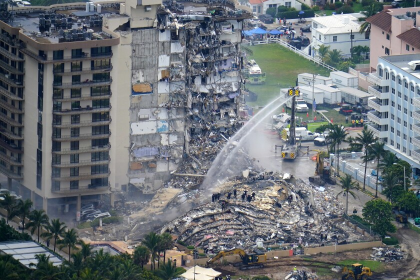 Collapsed condo building in Surfside, Fla.