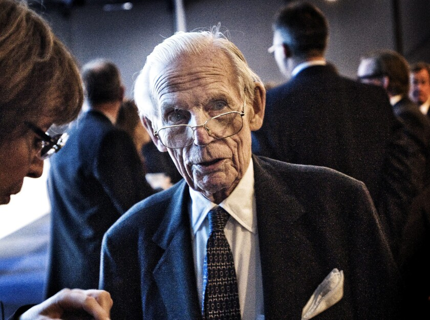 Sweden's Peter Wallenberg attends the Ericsson annual meeting in Stockholm in 2013.