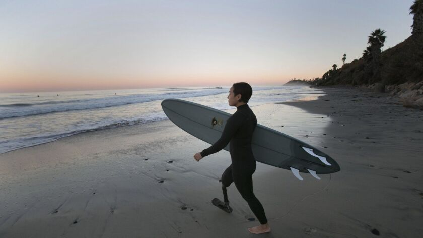 Dani Burt amputee surfer