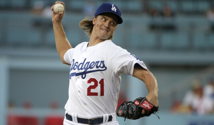 Including Friday night's win over the Angels, Dodgers pitcher Zack Greinke is 5-0 with an 0.31 ERA, with 53 strikeouts and eight walks in 58 2/3 innings over his last eight starts.