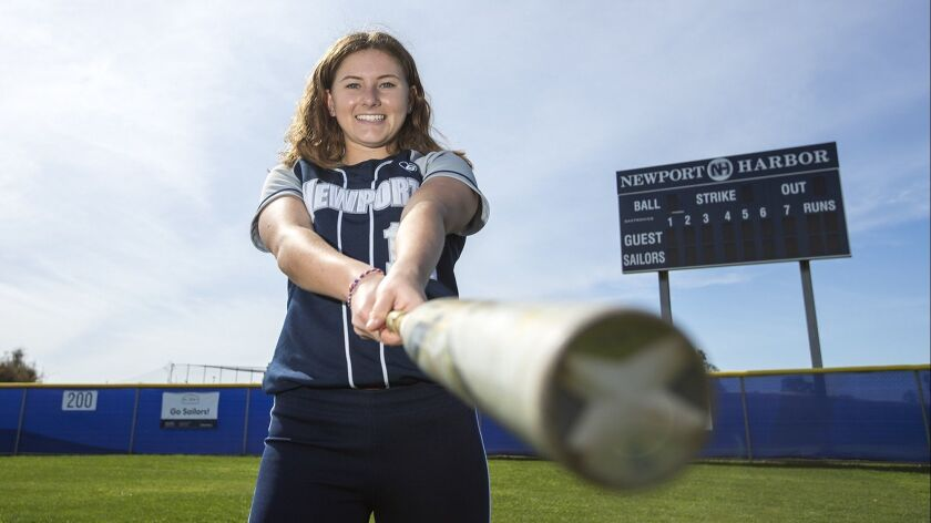 Eliana Gottlieb has gone four for five with a .900 on-base percentage over Newport Harbor High's last three softball games.
