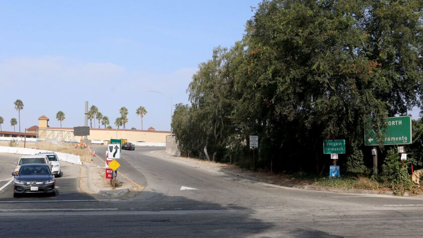 The on-ramp to the Golden State Freeway (5) north at Buena Vista Ave., on Friday, Aug. 24, 2018. Th