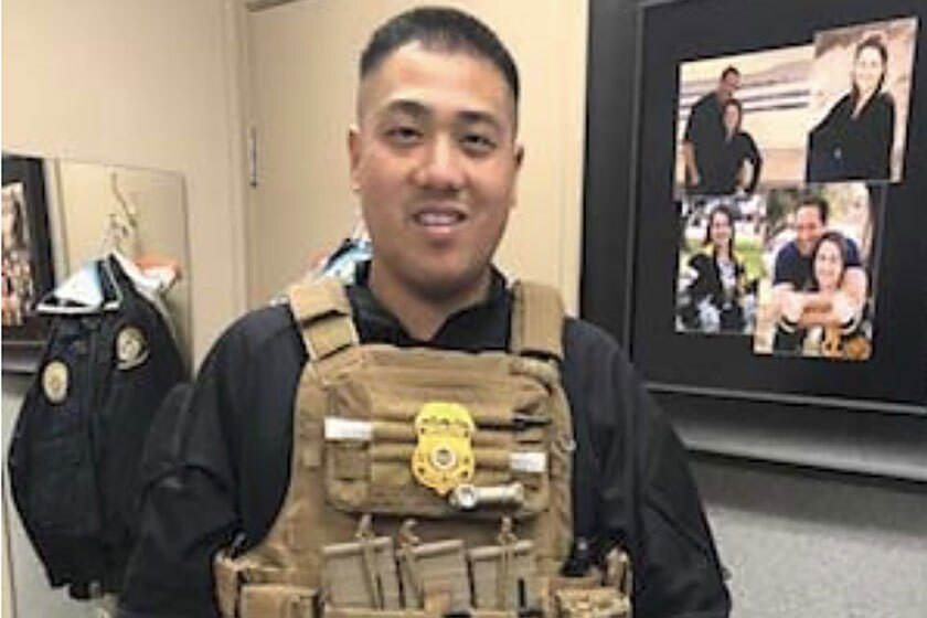 Donovan Nguyen was arrested Monday and charged with impersonating a federal agent.