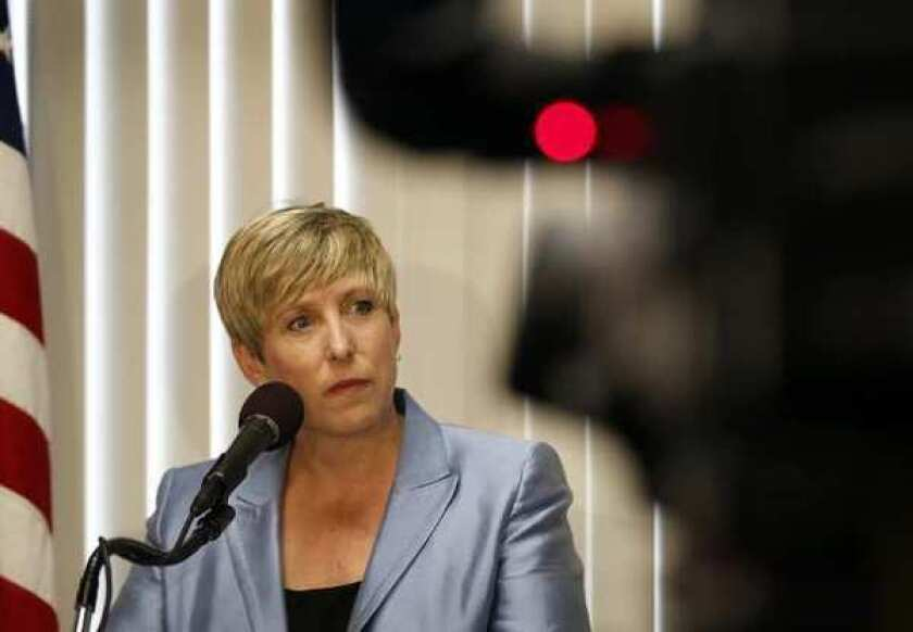 City Controller Wendy Greuel, who is running for mayor in the March 5 election, said the city utility had lax controls over the lobbying contracts and failed to require that two of the firms prepare reports showing what they had accomplished.