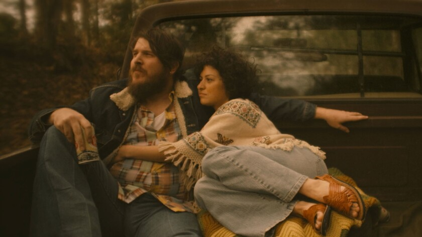 "Ben Dickey, a singer making his acting debut, and Alia Shawkat in the movie ""Blaze."""