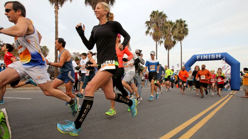 San Diego Resolution Run at Tecolote Shores Park in Mission Bay.