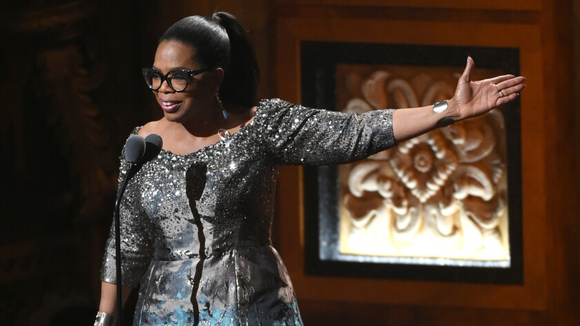 Oprah at the Tony Awards