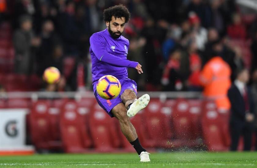 El delantero del Liverpool Mohamed Salah. EFE/EPA/Archivo