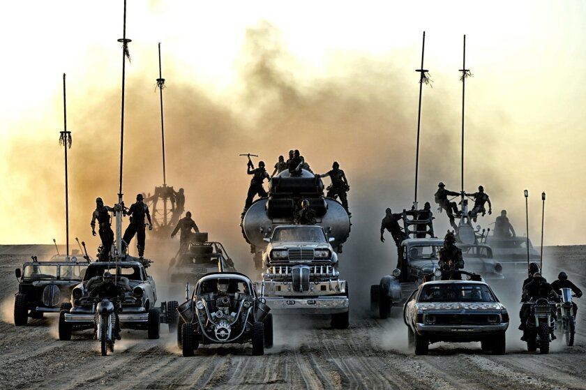 """This image released by Warner Bros. Pictures shows a scene from """"Mad Max: Fury Road,"""" out in theaters on May 15. (Jasin Boland/Warner Bros. Pictures via AP)"""
