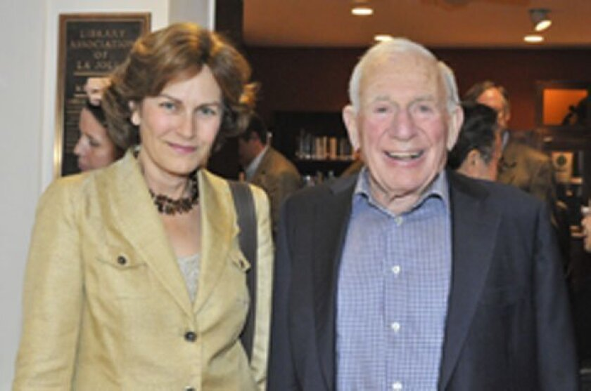 Dr. Holly Given, guest speaker Dr. Walter Munk