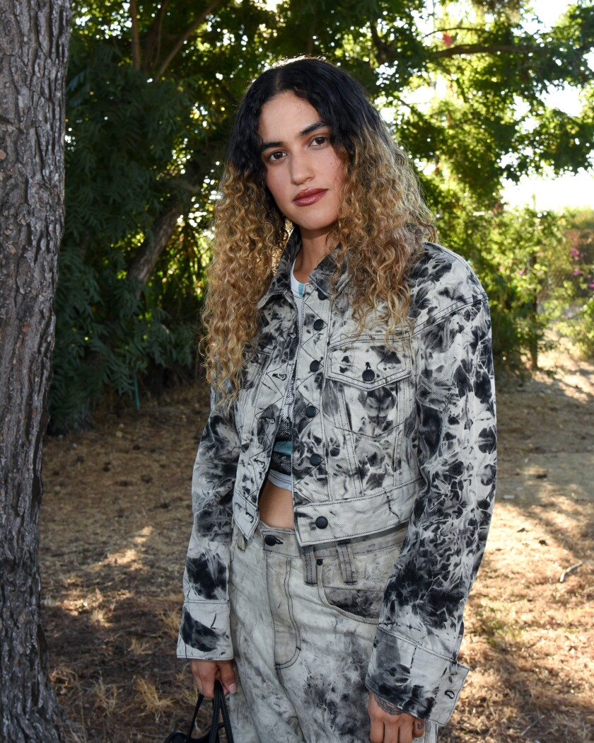 Musician Empress Of at the Ugg and Eckhaus Latta collaboration dinner in Los Angeles on Aug. 14.
