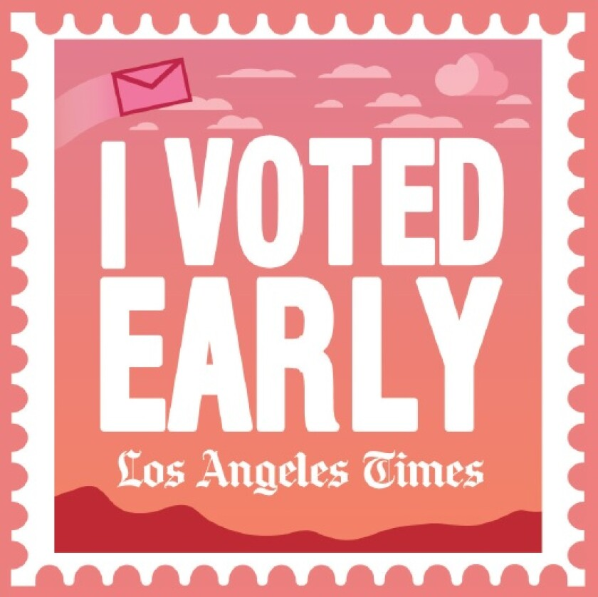 "The ""I Voted Early"" sticker will appear on the cover of the Calendar section on Sunday, Oct. 11."