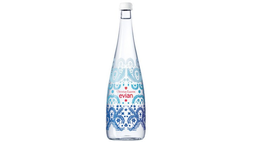 Christian Lacroix and Evian team for the 10th anniversary of their water bottle design project