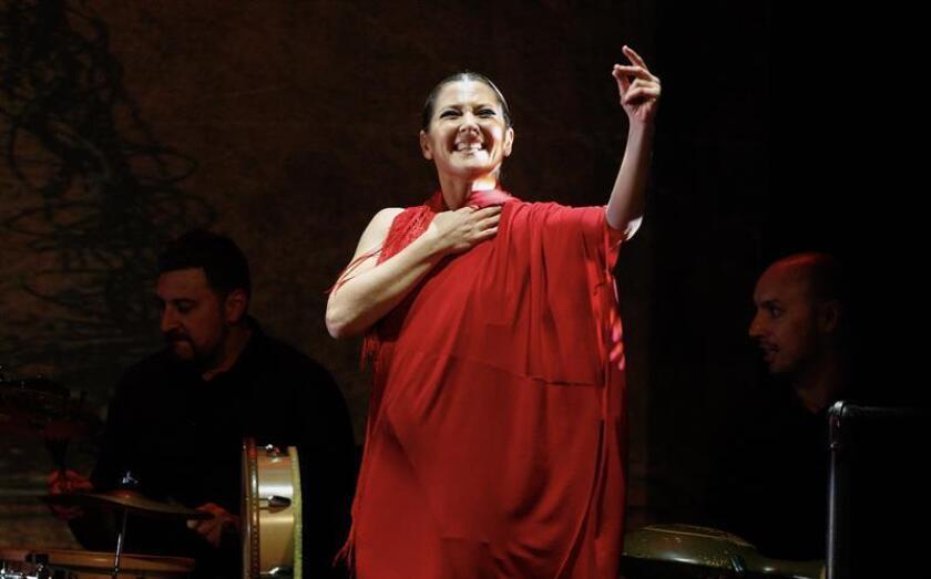 """La bailaora española Sara Baras presenta su espectáculo """"Sombras"""" en el teatro New York City Center como cabeza del cartel Flamenco Festival, en Nueva York (EE.UU.). EFE/Archivo"""