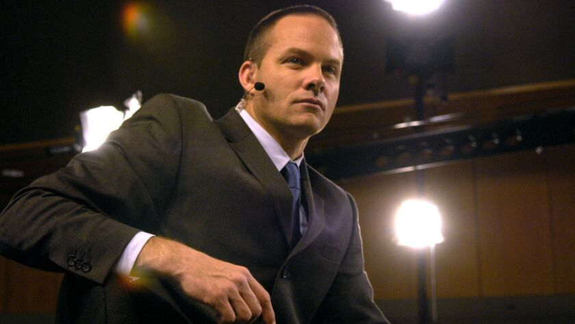 Eric Wynalda, shown here from 2007, had his house burn down in the Ventura County fire.