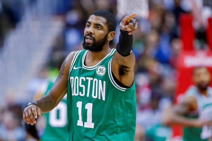 En la imagen, el jugador de los Celtics Kyrie Irving. EFE/Archivo