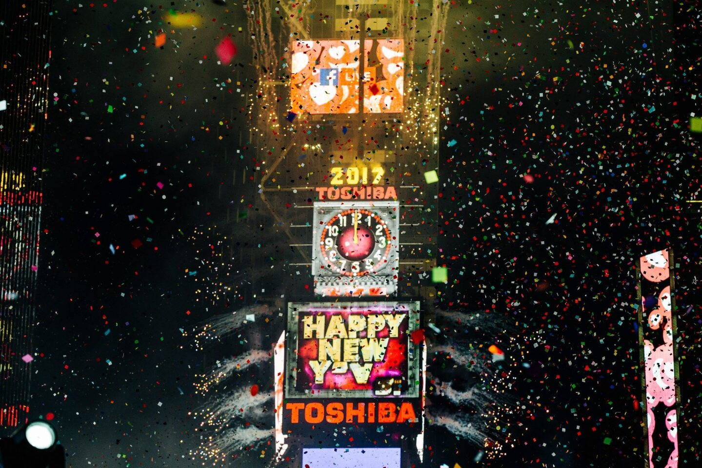 A view of Times Square during the New Year's celebrations in New York City on Jan. 1, 2017.