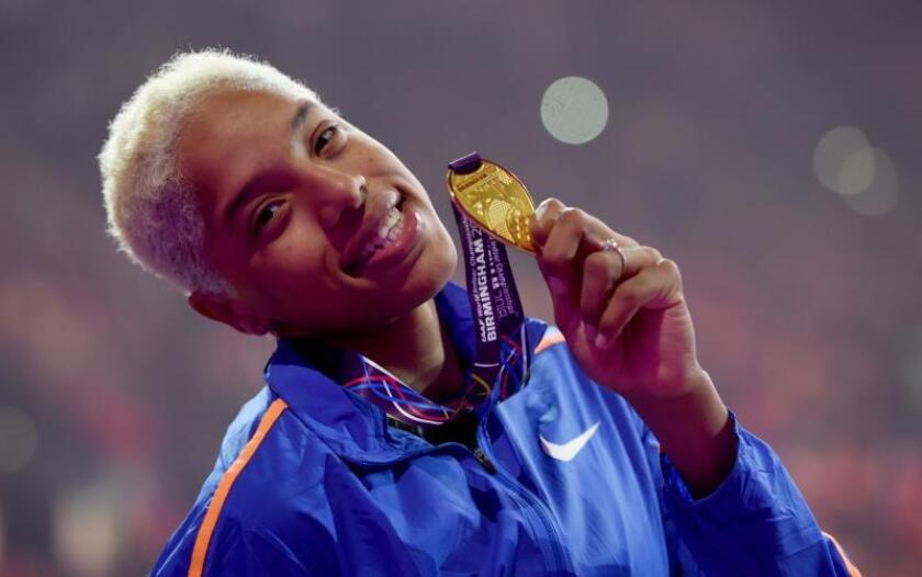La atleta venezolana Yulimar Rojas. EFE/Archivo