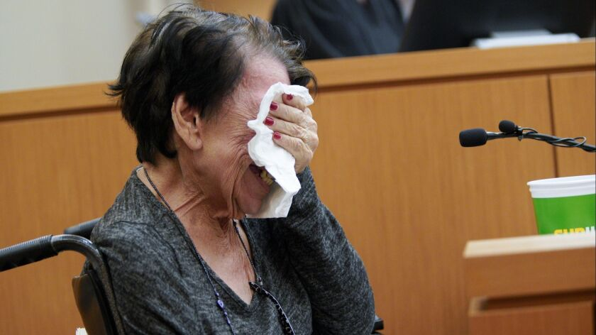 Lorraine Vega who in a previous case was abused by Shirley Montano, breaks down in tears as she list